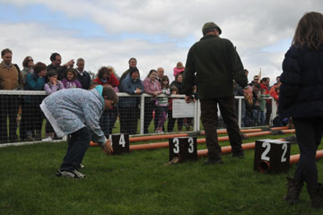 Ferret racing at Chatsworth - the winner